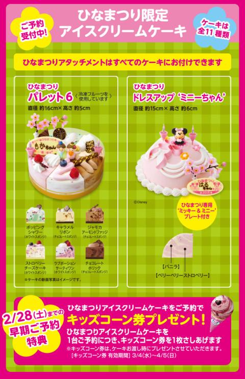 サーティワン・ひなまつり限定アイスケーキ