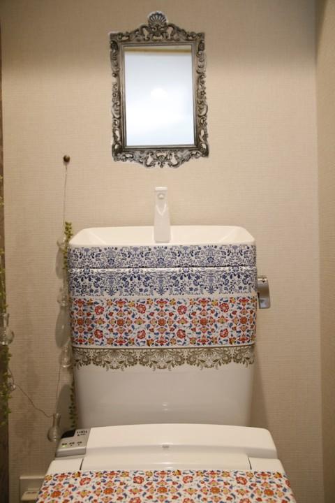デコルファでトイレもデコレーション