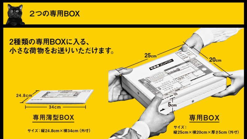 宅急便コンパクトで送るには専用ボックスが必要