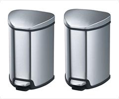 コストコ・EKO4.9Lステンレス スチールゴミ箱2個インナーボックス付き